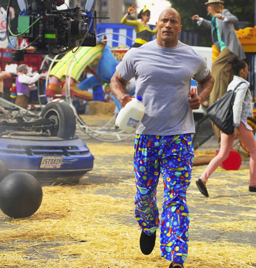 How The Rock Rests - Running in Pajama Pants.