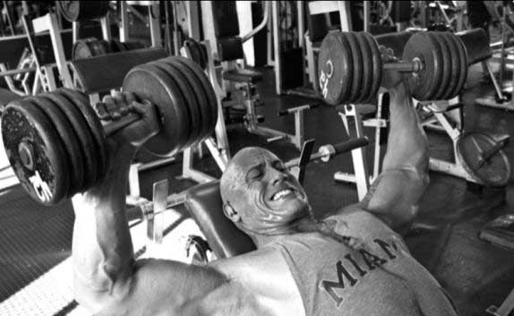 Everyone, including The Rock, does Chest on Monday.