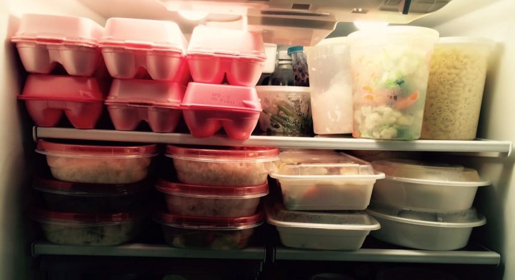 Stocked fridge, ready to go.